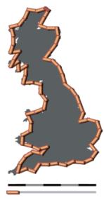 180px-Britain-fractal-coastline-50km